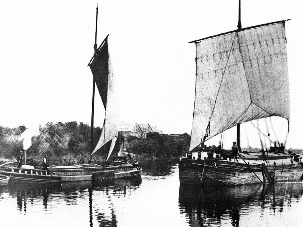 Portrait de bateau. le chaland de la humber