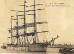 4-mâts Président Félix Faure à l'entrée au Havre - CP postée le 10 oct. 1905 - 2,24 Mo